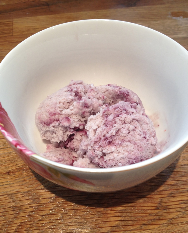 Blackberry ripple coconut ice cream